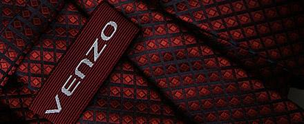 Krawat z tkaną metką z logo