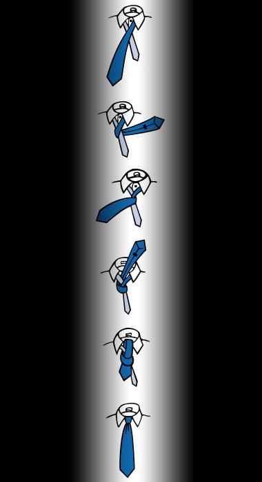 Węzeł prosty - jak zawiązać krawat