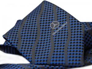 Krawat z logo - Mercedes