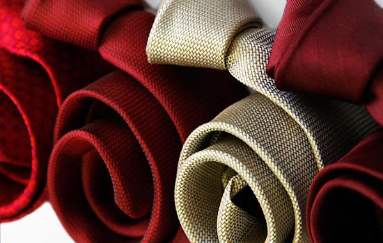 krawaty jedwabne - różne wzory