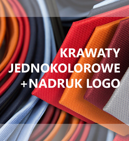 krawaty jednokolorowe pod nadruk logo