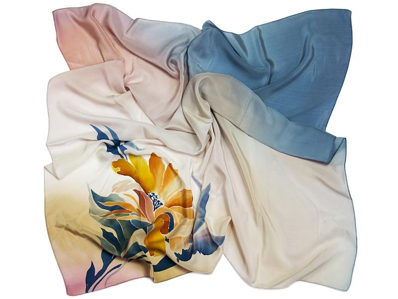 chusty jedwabne malowane