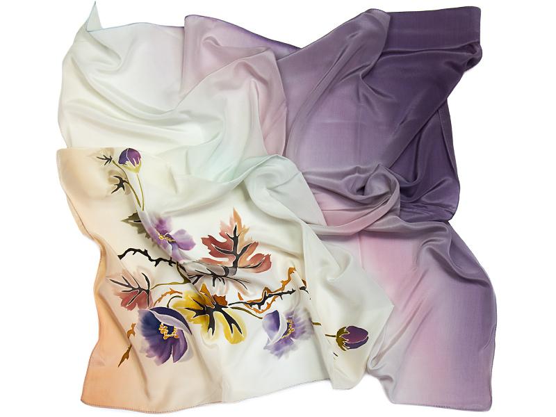 chusty jedwabne ręcznie malowane