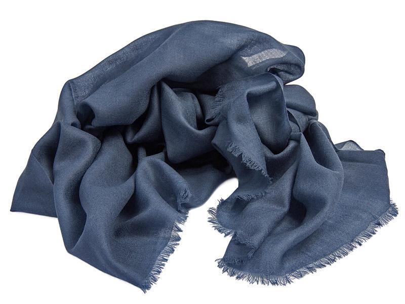 wełniany szalik na jesień Venzo Blue