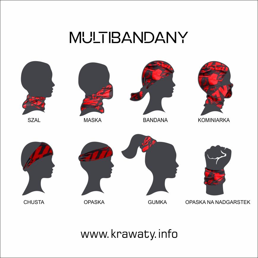 sposoby noszenia multibandan buff