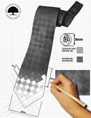 Proces powstawania krawata z tkanym logo - jak powstaje krawat