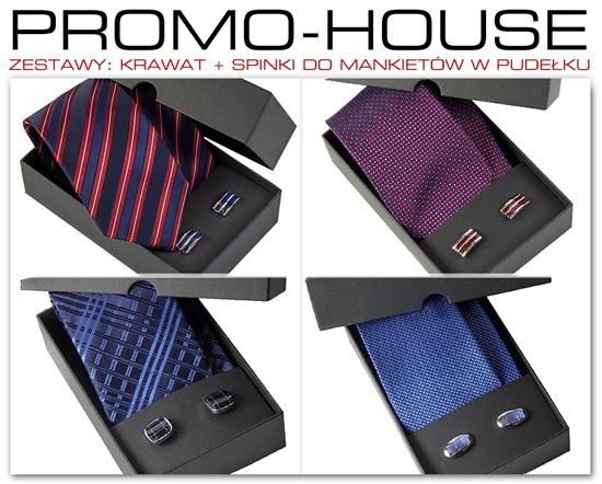 dowolny krawat + spinki do mankietów