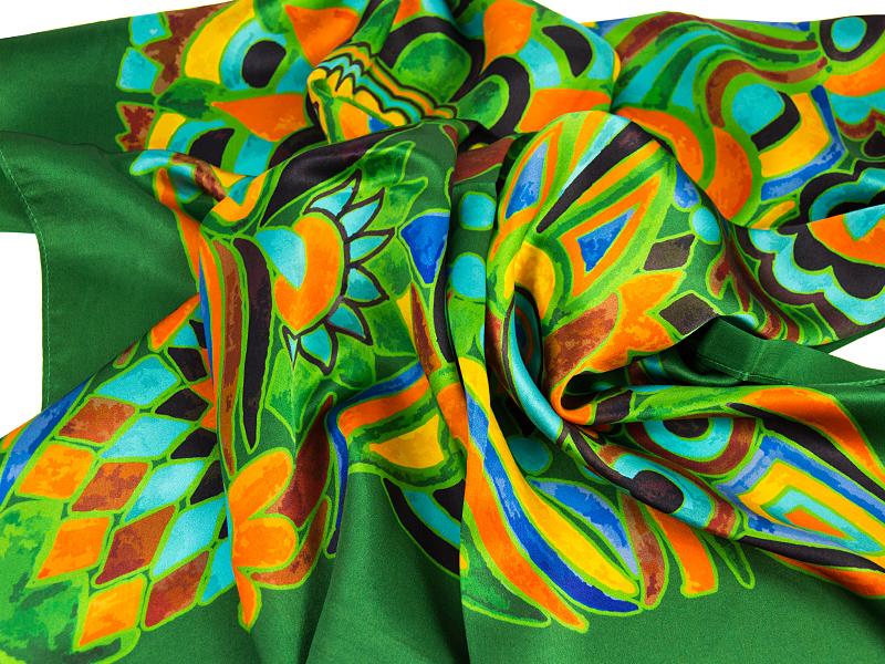 APASZKA OLIV-GREEN 85X85