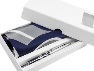Apaszka + długopis + pudełko kartonowe 2