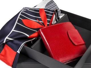 Silk scarf + leather wallet -APR03