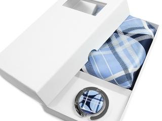 Apaszka + zawieszka w pudełku kartonowym