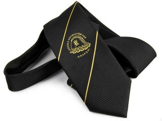 Tie with woven logo 6