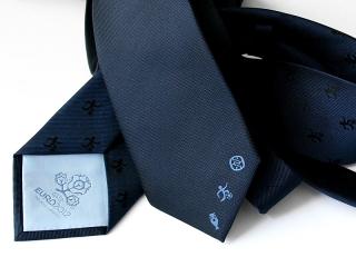 Krawat z logo i podszewką EURO2012
