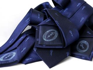 Krawat z podszewką i logo 2