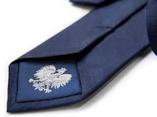 Krawat z podszewką i logo 1