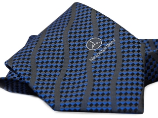 a tie with a logo mercedes