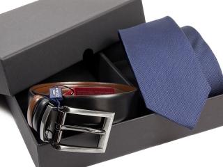 Zestaw Krawat + pasek skórzany Venzo-1