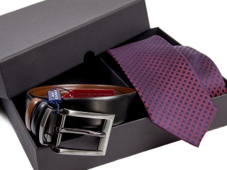 Zestaw Krawat + pasek skórzany Venzo-3