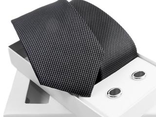 Zestaw krawat + spinki do mankietów w pudełku Venzo-B002