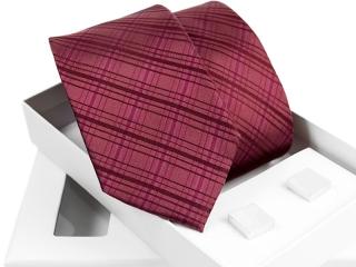 Zestaw krawat + spinki do mankietów w pudełku Venzo-B004